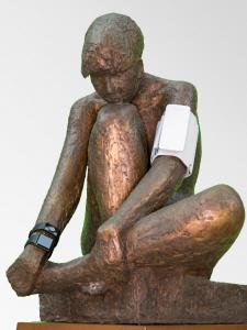 Bronze skulptur af Bjørn Nordahl